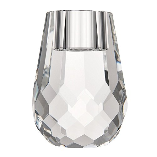 DONOUCLS Crystal Candle Holder Honeycomb Appearance Hand Cut Crystal Mini Tealight Holders Banquet Decorations For Dinner 2.4x3.2Inches