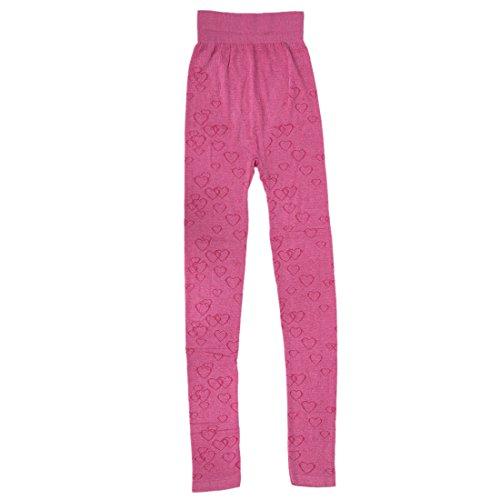Termico Inverno Rosso Pantaloni Imposta Collo Johns Pajama Grigio Impostato Rose Donne R Top giro TOOGOO amp; Lungo YHI11q