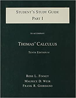 Book Student Study Guide, Part 1 (Pt. 1) 10th edition by Thomas, George B. (2000)