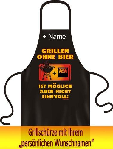 Fun Grillschürze Kochschürze! Grillen ohne Bier ist möglich aber nicht Sinnvo...
