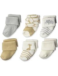 Baby Newborn Terry Socks, 6 Pack