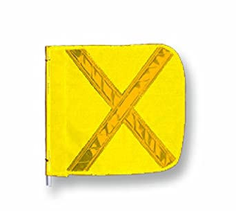 Flagstaff FS8 Yellow Safety Flag with Reflective X