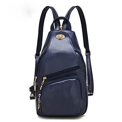 QPALZM Mode Süß Lady Multifunktions Dual Schultern Chest Pack Wild Klassik Handtaschen Messenger Bag,Darkblue
