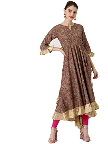 a1d6787d86 Designer Kurta Kurti Indian Women Bollywood Ethnic Pakistani Crepe Kurtis  ...