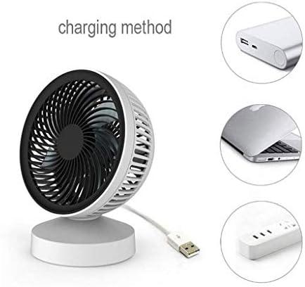 YUMUO Ventilateur De Bureau Portable Mini Bureau Personnel Table USB Ventilateur avec Vent Naturel Rechargeable Bureau Table De Chevet Ventilateur Câble De Charge