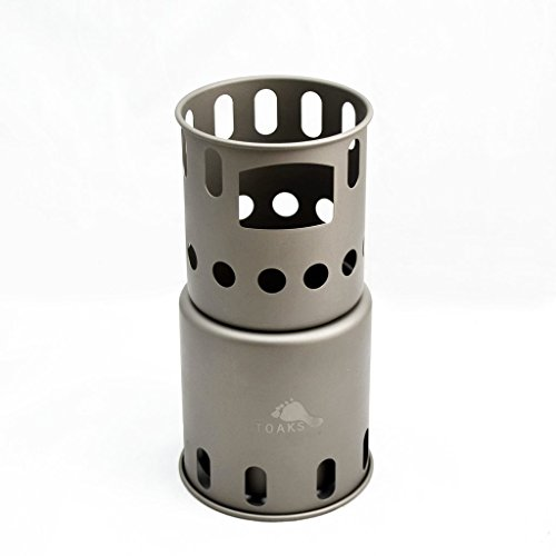 Toaks Outdoor TOAKS Small Titanium Backpacking Wood Burning Stove