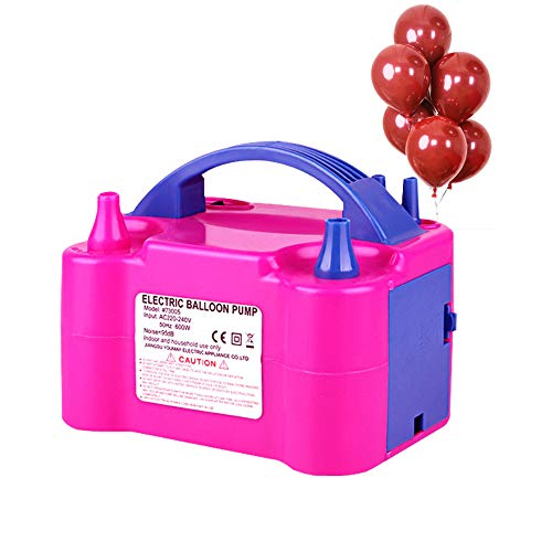 Growsun Portable Electric Air Balloon Pump 110V 600W Balloon Blower Inflator For Party Decoration,Rose -
