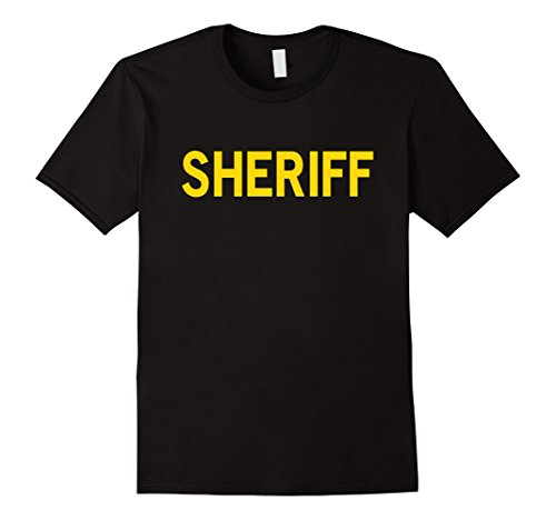 Mens T Shirt that says SHERIFF T-Shirt for Official Use, Costumes XL - Sheriff Costume Shirt