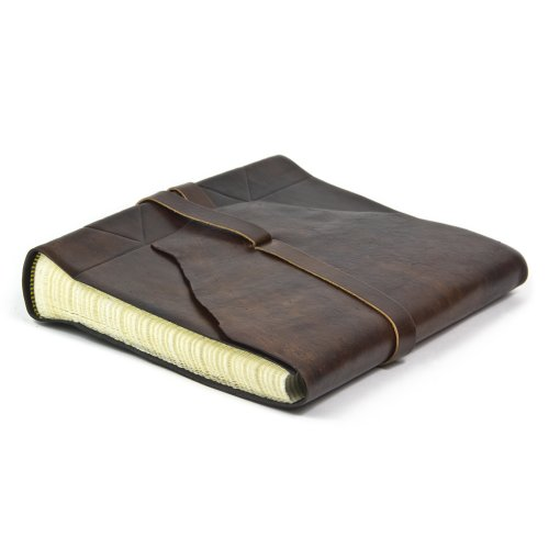 Exclusive Leather Photo Album Handcrafted In Italy, 50 pages 8x10 inch (Dark - Pictures Handcrafted