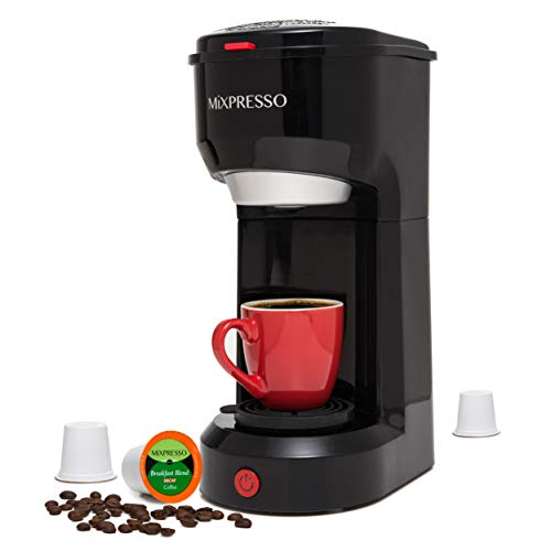 Mixpresso Original Design 2 in 1 Coffee Brewer K-Cup Pods Compatible & Ground Coffee, Personal Coffee Brewer Machine…