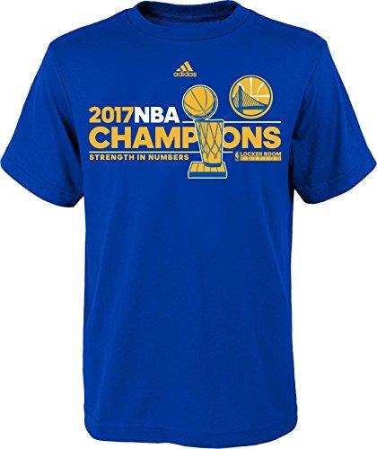 adidas Golden State Warriors 2017 NBA Finals Champions Locker Room Blue T-shirt Large