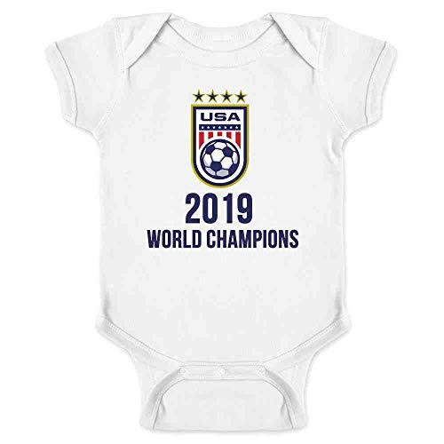 USA Soccer 2019 World Champions 4 Times Stars White 6M Infant ()
