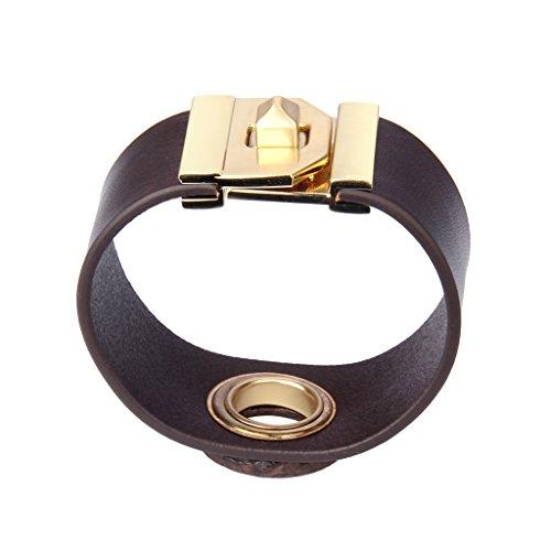 Jenia Women Leather Cuff Bracelet Wide Italian Wristband Wrap Around Bracelet Bohemian Jewelry for Girls, Ladies, Mother, Wife Birthday Gifts by Jenia (Image #2)