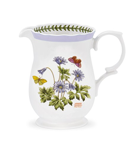 PORTMEIRION BOTANIC GARDEN TERRACE Scalloped edge pitcher 2.75 - Terrace Garden