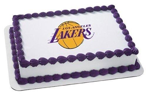 Quantumchaos Media NBA Basketball Los Angeles Lakers Edible Image Cake Cupcake Topper