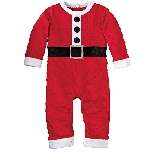 Mud Pie Baby-Boys Newborn Santa One Piece, Red, 6-12 Months (Santa Baby Outfit)