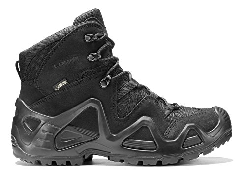 Boot Tex Gore Suede (Lowa Mens Zephyr Gore-Tex Mid Task Force Military Hiking Leather Boots (9 US, Black))