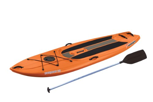 (SUNDOLPHIN Sun Dolphin Seaquest Stand Up Paddleboard (Tangerine, 10-Feet))