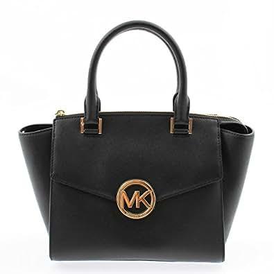 b8f3987583fe Amazon.com: Michael Kors Hudson Medium Satchel in Saffiano Leather  35S6GHUS2L (Black): Shoes