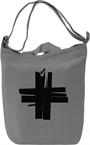 Cross Borsa Giornaliera Canvas Canvas Day Bag  100% Premium Cotton Canvas  DTG Printing 
