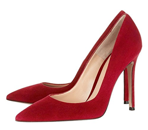 heel on Classic Pumps High Slip Toe Office Red Women's Eldof Heels 10CM Pointed Pumps qpgPwEnzx
