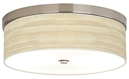 Birch Blonde Giclee Energy Efficient Ceiling Light (Flush Birch)