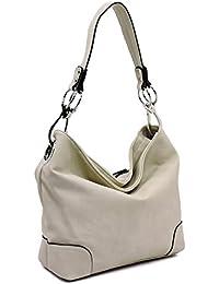 Vegan faux leather bucket shoulder handbag with detachable cross body shoulder strap