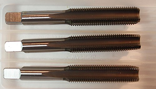 Kodiak Cutting Tools VP-QPK9-W48F USA Made Hand Tap Set, Includes Taper, Plug and Bottom Taps, High Speed Steel, H3 Limit, 4 Flute, 1/2