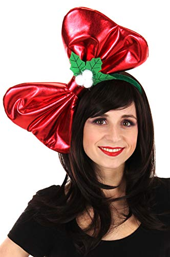 756c84535864d Image Unavailable. Image not available for. Color  elope Giant Christmas  Costume Bow Headband for Women