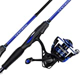 KastKing Centron Spinning Reel – Fishing Rod Combos, Toray IM6 Graphite 2Pc Blanks, Stainless Steel Guides (6'0' Medium-Split Handle,2000 Reel)