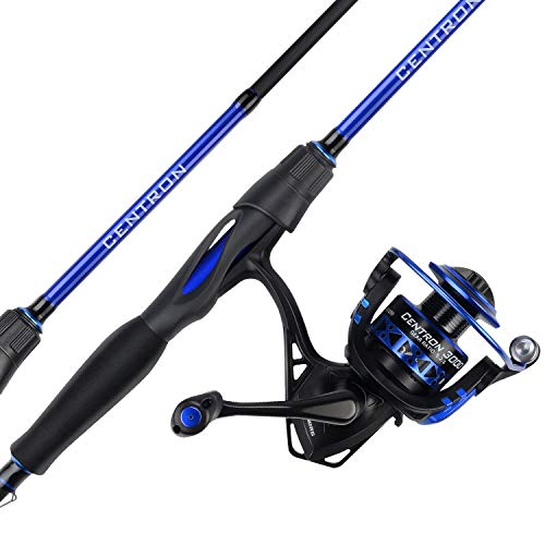 KastKing Centron Spinning Reel Fishing Rod Combos, Toray IM6 Graphite 2Pc Blanks, Stainless Steel Guides, Contoured EVA Handles Fighting Butt