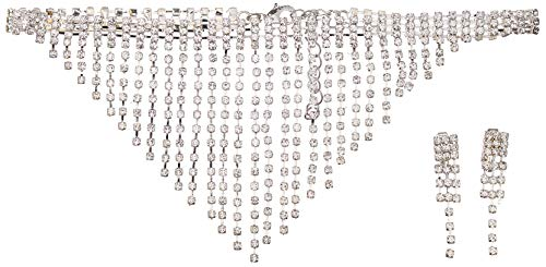 California Costume Women's Marilyn Jewelry Set, Silver, One Size]()