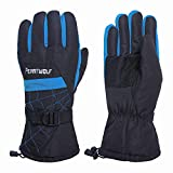 only U Winter Snow, Ski, Snowboard, Cold Weather Gloves Fashion Outdoor Gloves for Men & Women (Coffee)