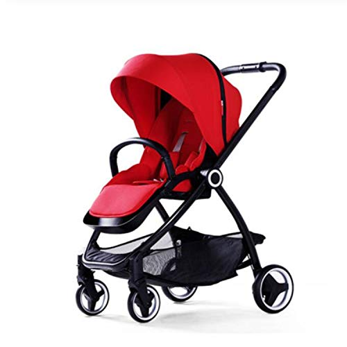 BABIFIS Baby Stroller European Folding Bebek Arabasi High Landscape Pram Portable Baby Carriages Pushchair Red