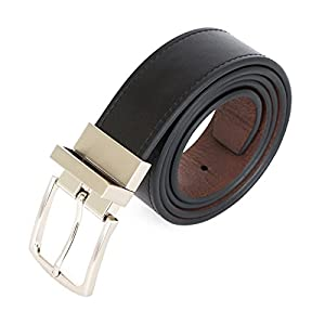 U.S. Polo Assn. Men's Reversible Leather Belt with Contrast Stitch