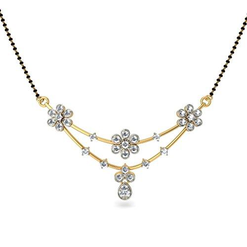18K Or jaune 0.57CT TW White-diamond (IJ   SI) Mangalsutra