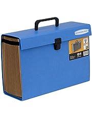 Fellowes Bankers Box - Clasificador de fuelle con 19 secciones y cierre de seguridad, color azul