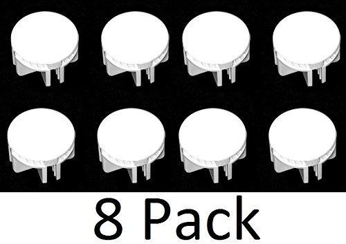 Wire Cube Plastic Connectors snap mesh organizer grid (8, White)