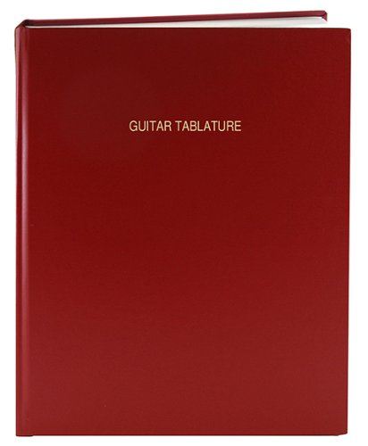 BookFactory Guitar Tablature Notebook / Guitar Journal - 168 Pages, Imitation Leather Cover, Smyth Sewn Hardbound, 8 7/8 x 11 1/4'' Tablature Format (LOG-168-LCR-A-LR-(Guitar Tablature)) by BookFactory