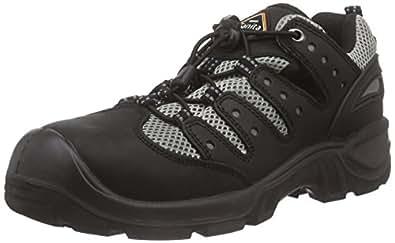 Sanita San-Safe Mississippi Lace Shoe, Zapatos de Seguridad Unisex Adultos, Negro (Black 2), 45 EU