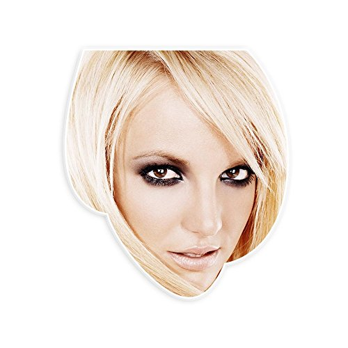 Sexy Britney Spears Mask - Perfect for Halloween, Masquerade, Parties, Events, Festivals, Concerts - Jumbo Size Waterproof Laminated - Halloween Costumes Britney Spears
