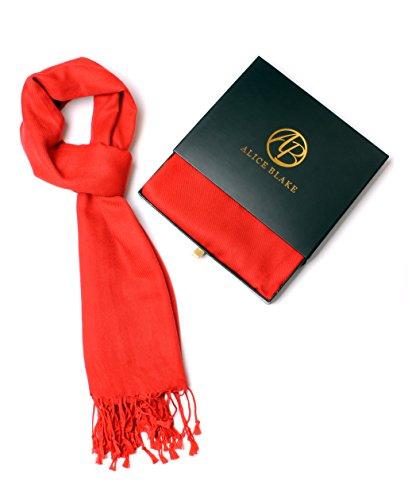 Alice Blake Premium Pashmina Scarf Shawl Wrap Soft Luxurious With Free Gift ()