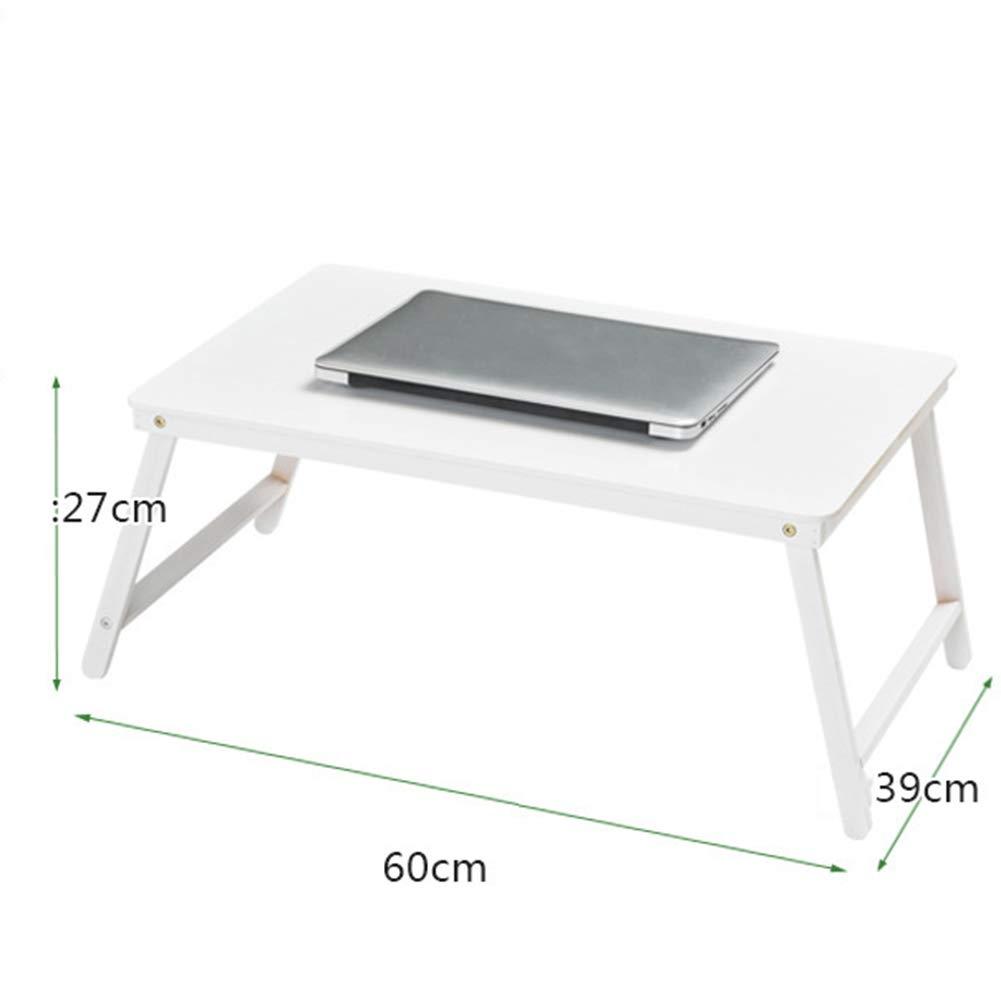 blanc 604030cm KSUNGB Table Pliante Lit portable Multifonction Bambou Paresseux Bureau d'ordinateur, Bureau d'apprentissage Table à Manger,rose,60  40  30cm