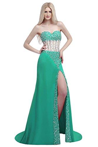 Ikerenwedding - Vestido - corte imperio - para mujer Verde