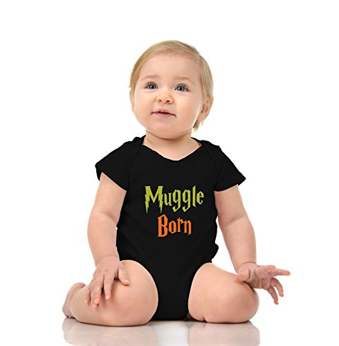 Muggle Born - Funny Wizard Baby Romper Onesie Unisex Warpped and Protected with A Clear Poly Bag