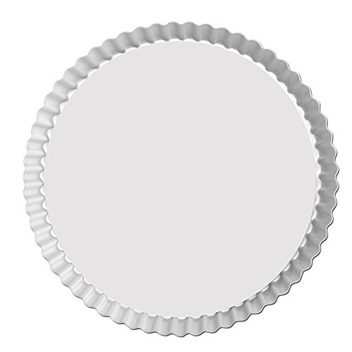 Fat Daddio's Anodized Aluminum Fluted Tart Pan, 9.5 Inches by 1 Inch
