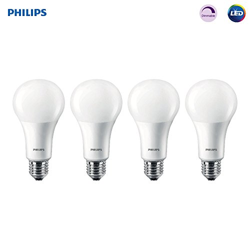Philips LED 472399 100 Watt Equivalent Frosted A21 Dimmable Energy Star with Warm Glow Effect Light Bulb (4 Pack), Piece