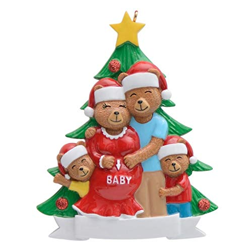 MAXORA Pregnant Bear Family of 4 Christmas ()