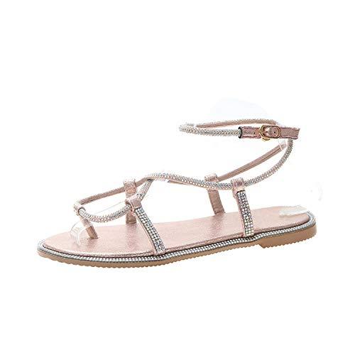 Gladiator Women Sandals Summer Trendy Cross Tied Sandals Outdoor Falts Heels Rome Shoes Beach Flip - 1p Memory