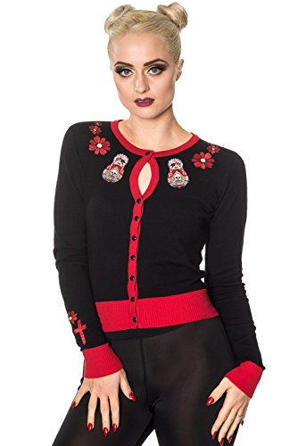 Banned-RUSSIAN-PIRATE-DOLL-Long-Sleeve-Embroidered-Cardigan